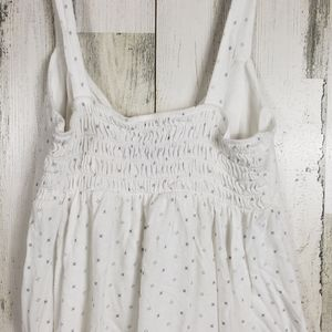 AEO cute white and gray tank size medium